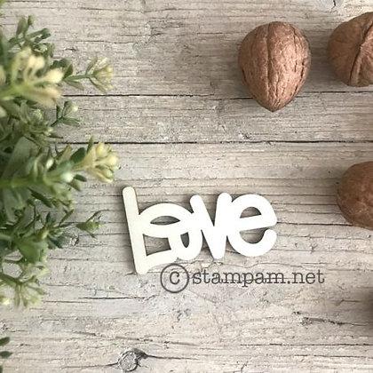 """Sentiments in legno """" Love """""""