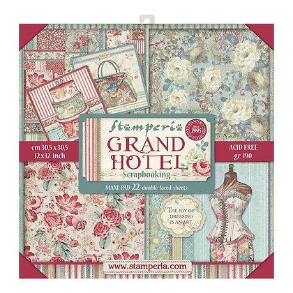 Pad scrapbooking  22  fogli collezione Grand hotel  di Stamperia