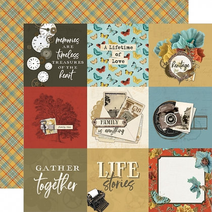 SIMPLE STORIES- SIMPLE VINTAGE ANCESTRY   4 x 4 ELEMENTS