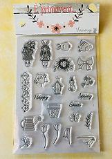 """Veroscrap- set 23 timbri clear formato A5 collezione"""" E' Primavera... """""""