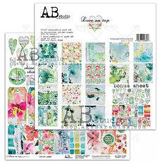 "AB STUDIO scrapbooking pad collezione ""Love on Top"""