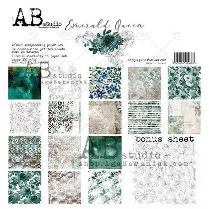 "AB STUDIO scrapbooking pad collezione "" Emerald Queen"""