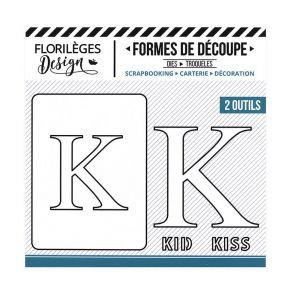 Florileges Design fustelle  lettera K collezione  A la Lettre