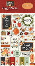 Carta Bella  Puffy stickers    Hello Autumn