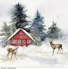 La box di Ve - Novembre - Foglio singolo-Foresta innevata