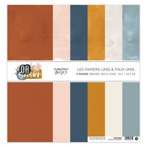 Florileges Design kit 6 carte double face Or Saison