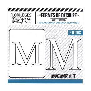 Florileges Design fustelle  lettera M collezione A la lettre