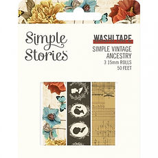 SIMPLE STORIES- SIMPLE VINTAGE ANCESTRY  -WASHI TAPE