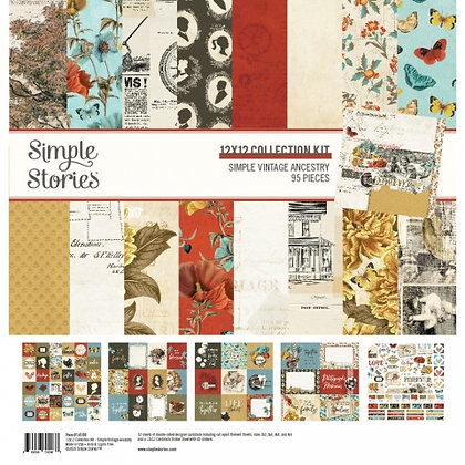 SIMPLE STORIES SIMPLE VINTAGE ANCESTRY  COLLECTION KIT