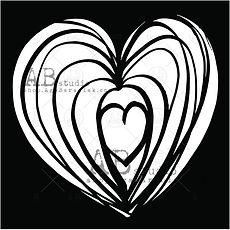 AB STUDIO  stencil Heart