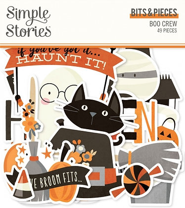 SIMPLE STORIES- BOO CREW -BITS E PIECES