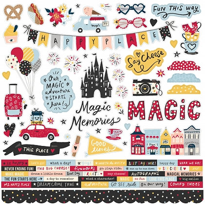SIMPLE STORIES SAY CHEESE MAIN STREET -CARDSTOCK STICKER