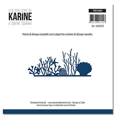 "Les  ateliers de Karine - 1 fustella "" Fond marin"""