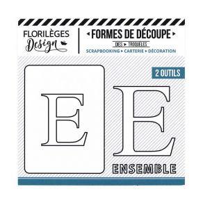 Florileges Design fustelle  lettera E collezione  A la Lettre