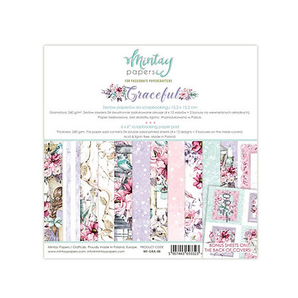 "Mintay Papers - pad 15,2cm x 15,2 cm  collezione""Graceful"""