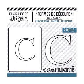 Florileges Design fustelle  lettera C collezione  A la Lettre