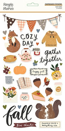 SIMPLE STORIES- COZY DAYS  6 x 12 CHIPBOARD
