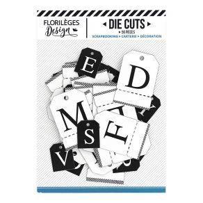 Florileges Design 56 Die Cuts bianco e nero collezione A la lettre