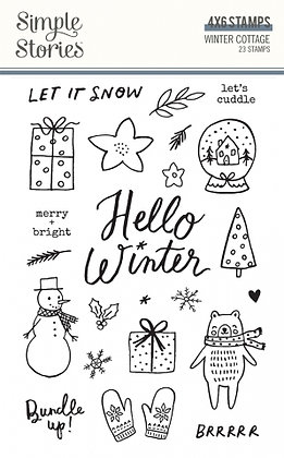 SIMPLE STORIES- WINTER COTTAGE-STAMPS