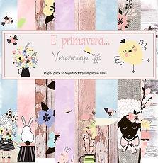 """Veroscrap Paper Pack 10  fogli 12""""x12"""" Collezione """" E' Primavera... """""""