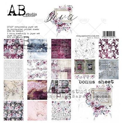 """AB STUDIO scrapbooking pad collezione """"Diva"""""""
