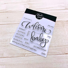 -PRODOTTO IN PREORDINE -MODASCRAP CLEAR STAMPS WELCOME