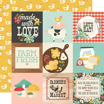 SIMPLE STORIES-APRON STRINGS   4 x 4 ELEMENTS