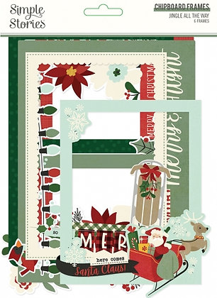 SIMPLE STORIES- JINGLE ALL THE WAY -CHIPBOARD FRAMES