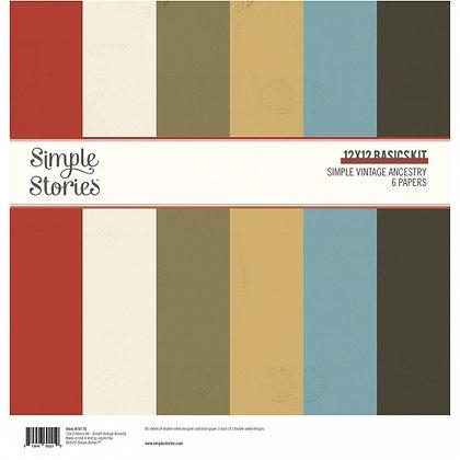 SIMPLE STORIES-SIMPLE VINTAGE ANCESTRY  -SIMPLE BASIC KIT