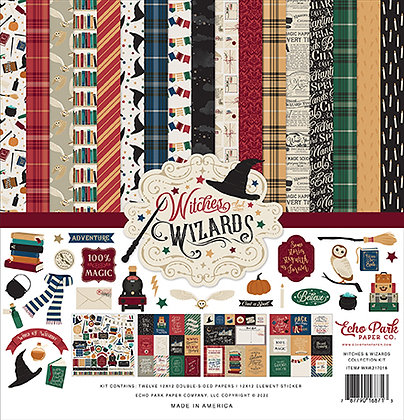 Pad scrapbooking Echo Park 12 x 12 inch Witches  & Wizards