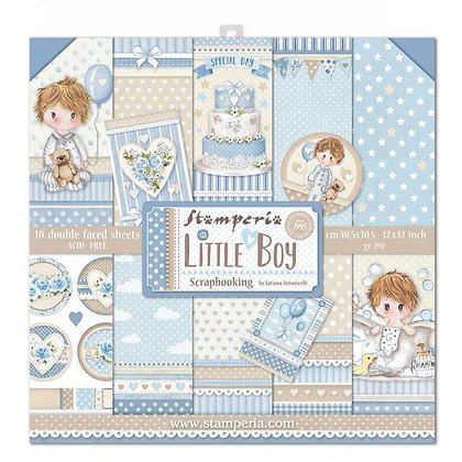 Pad scrapbooking collezione Little Boy  di Stamperia