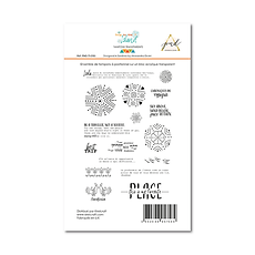 "PaperNova  Design- Set 17 timbri clear "" Trip to the island"""