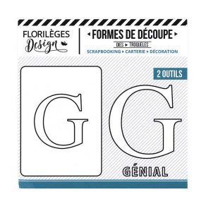 Florileges Design fustelle  lettera G collezione  A la Lettre