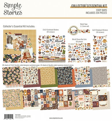 SIMPLE STORIES- COZY DAYS -COLLECTOR'S ESSENTIAL KIT