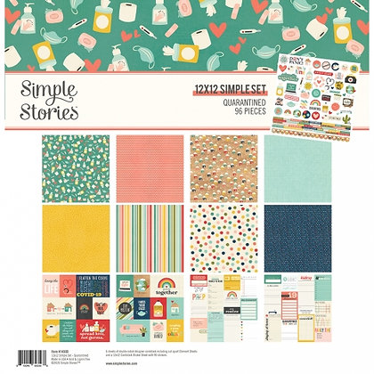 SIMPLE STORIES-QUARANTINED  - COLLECTION KIT