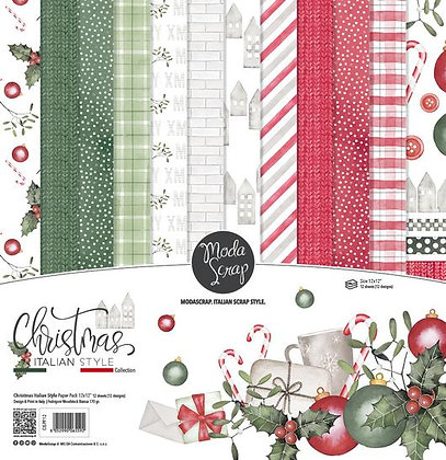 MODASCRAP PAPER PACK CHRISTMAS ITALIAN STYLE  12X12