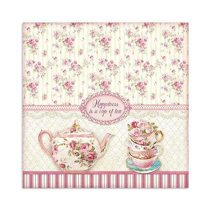 Foglio double face Cup of tea collezione Sweety di Stamperia
