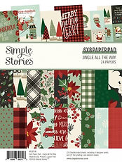 SIMPLE STORIES- JINGLE ALL THE WAY  6 x 8 PAD