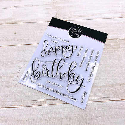 MODASCRAP CLEAR STAMPS HAPPY BIRTHDAY