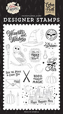 Sent by Air Stamp Set Echo Park  collezione Witches & Wizards