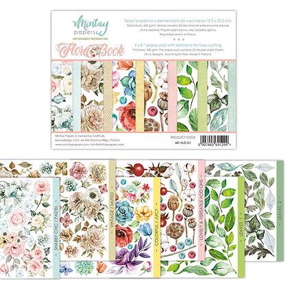 Mintay Papers - Flora book nr 1  15 cm x 20 cm