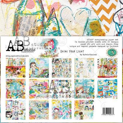 "AB STUDIO scrapbooking pad collezione "" Shine your light """
