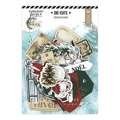 Florileges Design 54 die cuts collezione Oh Winter