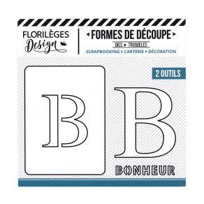 Florileges Design fustelle  lettera B collezione  A la Lettre