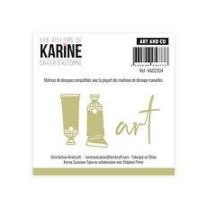 """Les  ateliers de Karine - 3  fustelle  """" Art and co """""""