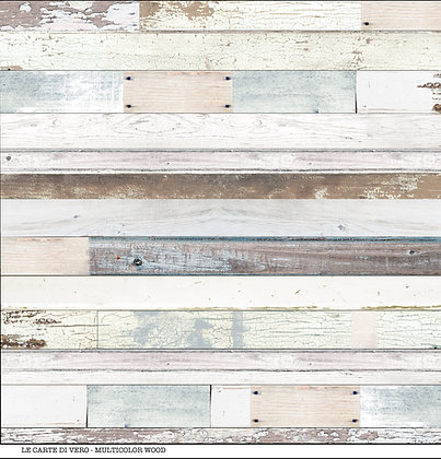 "Veroscrap - Foglio singolo ""Multicolor  Wood  """