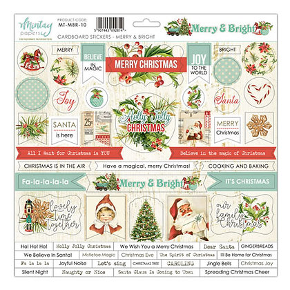 Mintay Papers - Merry & Bright  cardboard stickers