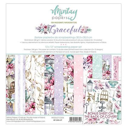 "Mintay Papers - pad 30,5cm x 30,5cm  collezione""Graceful"""