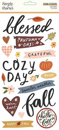 SIMPLE STORIES- COZY DAYS-FOAM STICKERS