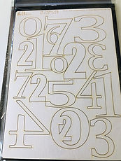 "AB Studio-  Thick  cardboard "" Numbers  """